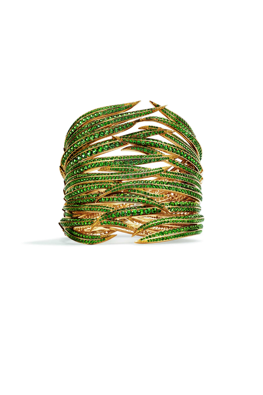 75379e3249b7 Bracelet in 18k yellow gold with tsavorites and yellow sapphires