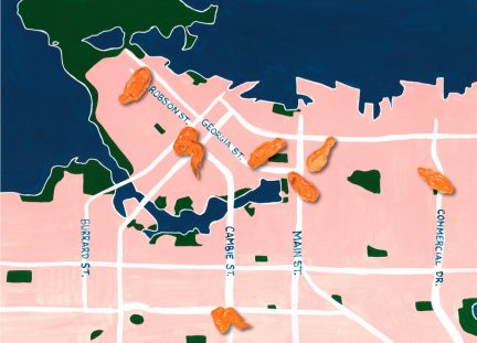 A Vancouver Chicken Wing Map