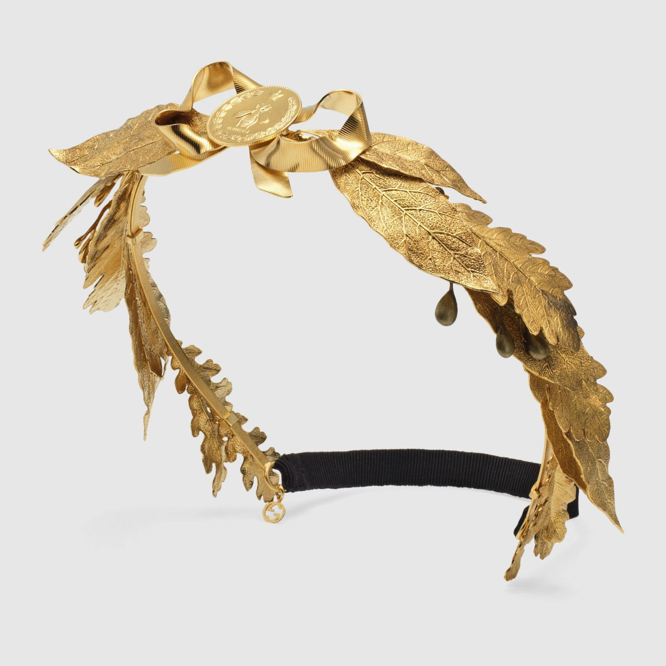 f637bf852d5 Gucci Metal Leaves Hairband.