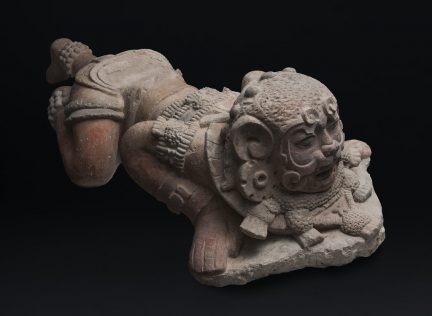 Sculpture of a man with attributes of a jaguar. By Royal BC Museum.