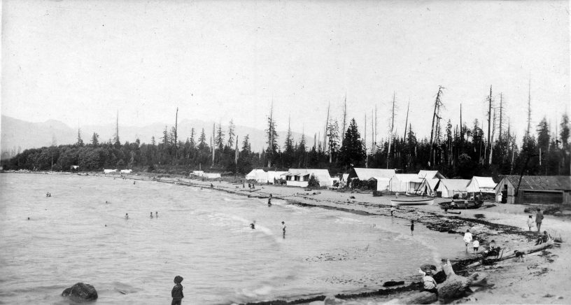 Kits Beach 1900. City of Vancouver Archives.
