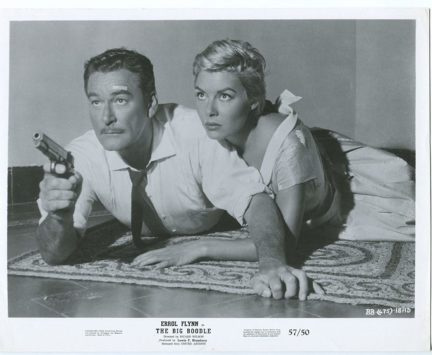 MOVIE PHOTO The Big Boodle 8x10 Promo still- Rossana Rory- Errol Flynn- FN