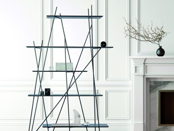 The bookcase designed by an Italian architect