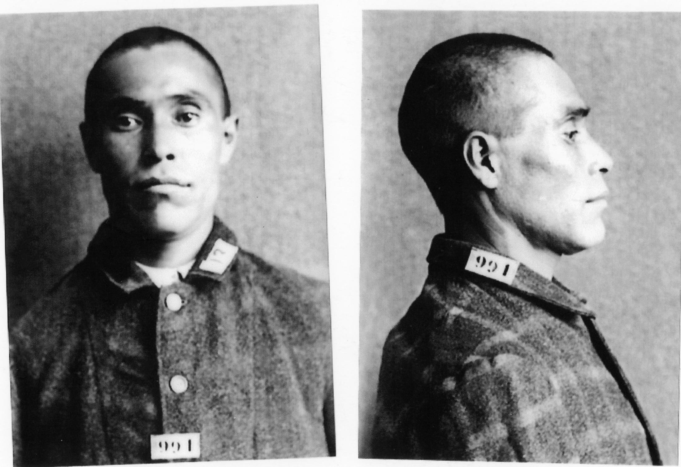 Sook Sias mugshot on admission to B.C. Penitentiary in 1906. (Photo from B.C. Penitentiary Collection)