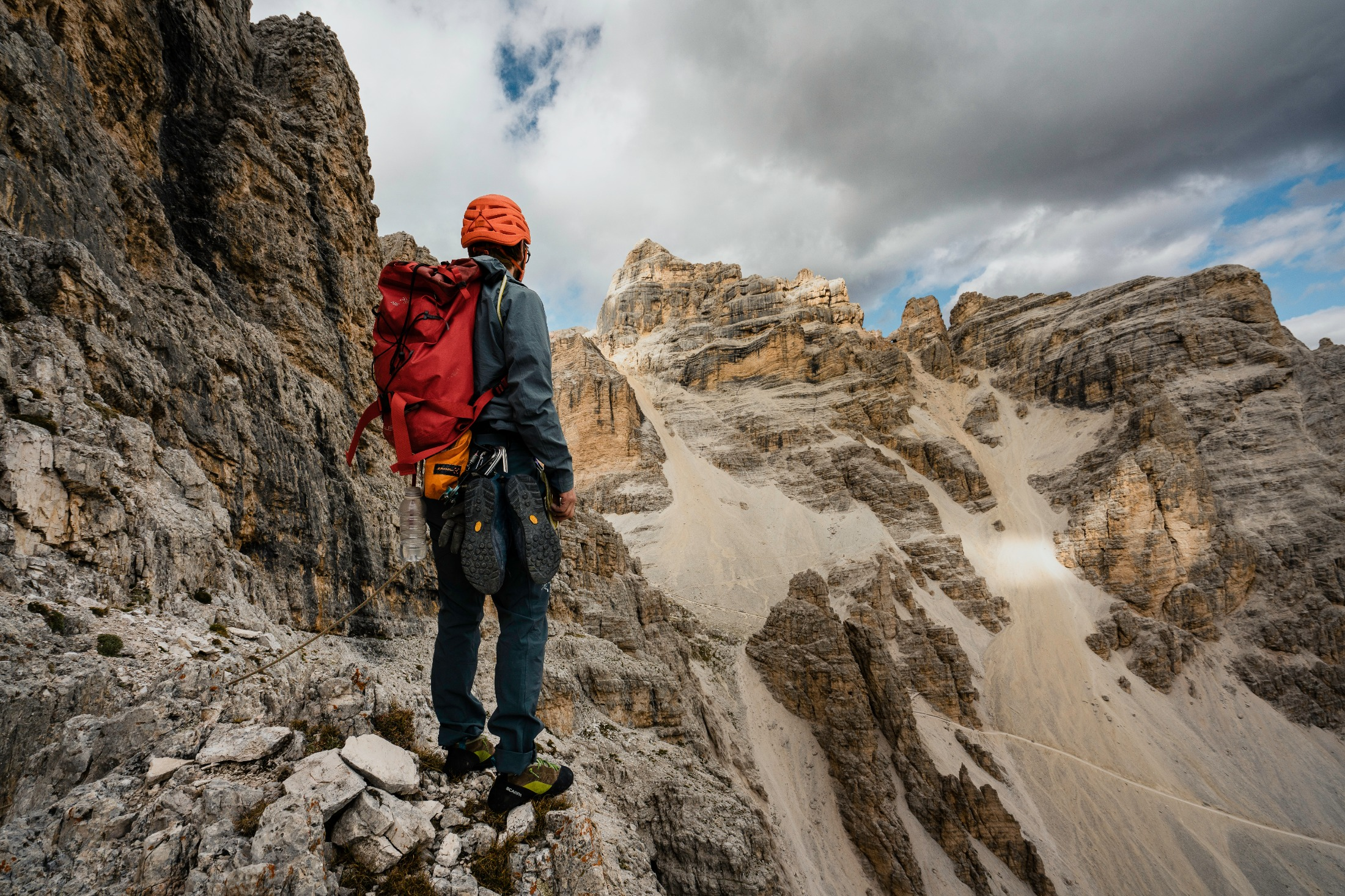Guided trek through the Dolomites in Italy.