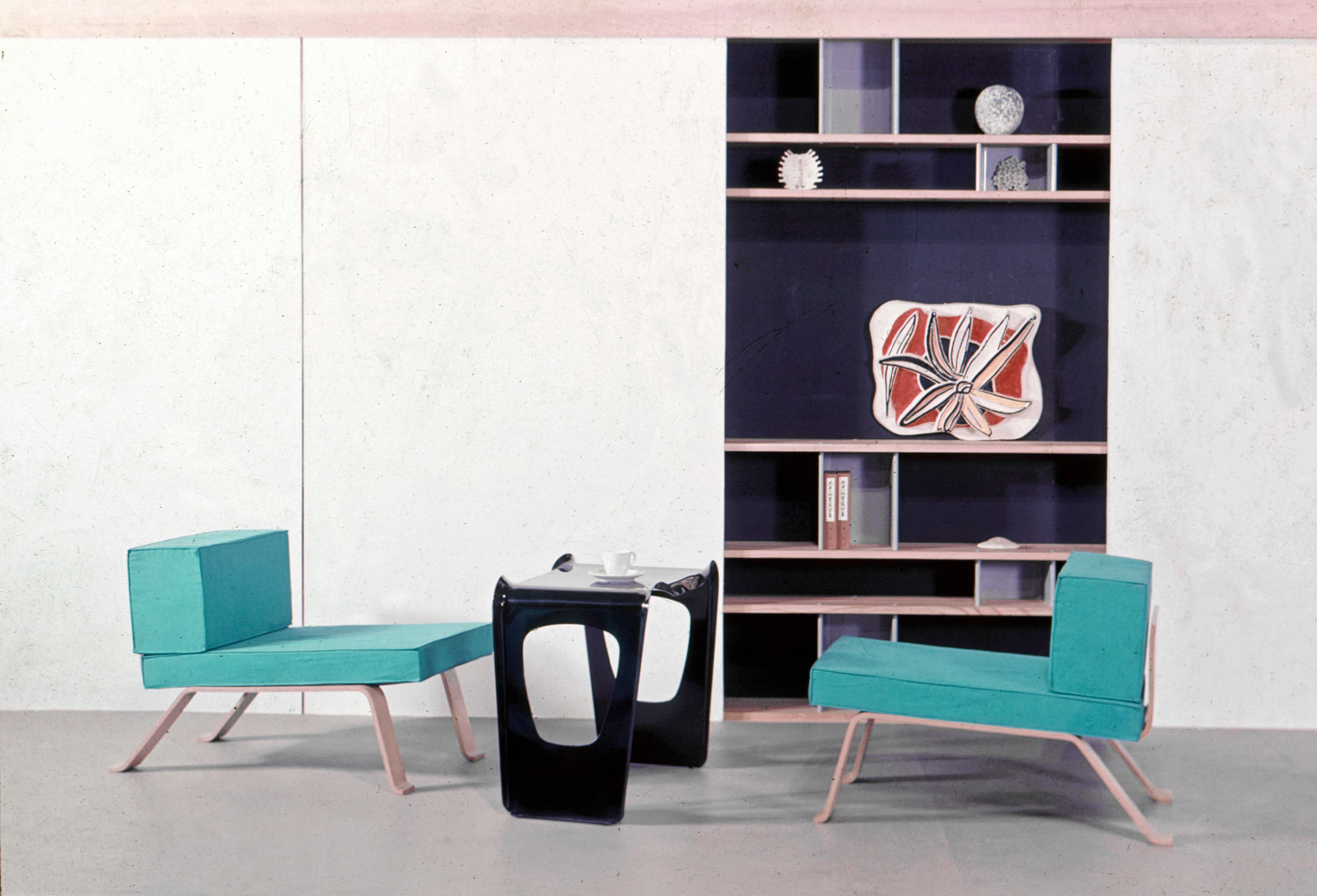 Charlotte Perriand's 1955 design for a reception room. Courtesy of Louis Vuitton Fondation.