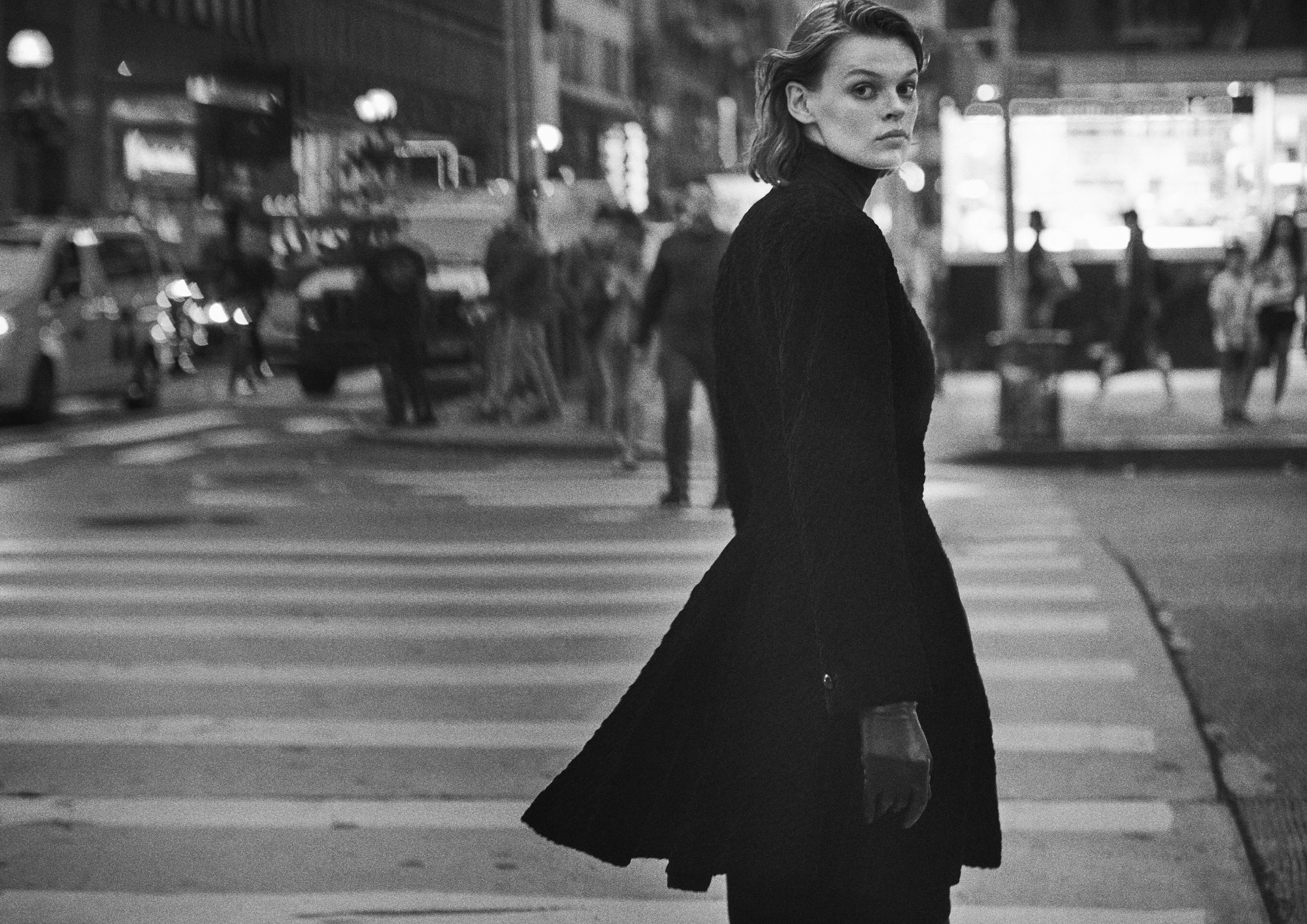 Cara Taylor in Dior by Marc Bohan, fall 1985 couture. Photo by Peter Lindbergh/Courtesy of Dior.