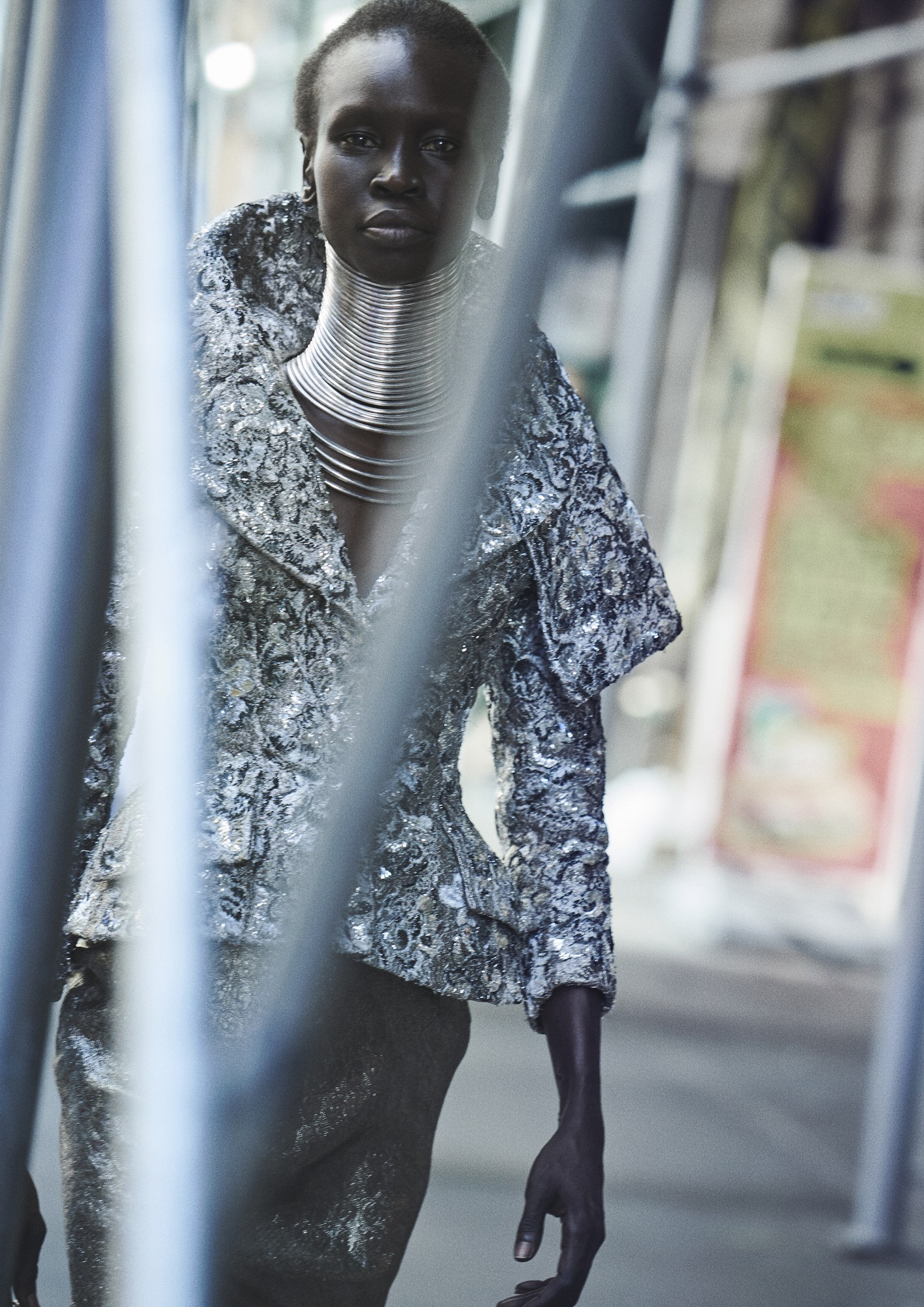 Alek Wek in Dior by John Galliano, fall 1997 couture. Photo by Peter Lindbergh/Courtesy of Dior.